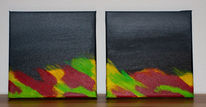 Wiese, Nacht, Emotion, Malerei