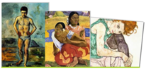 Cezanne, Schielen, Collage, Gauguin