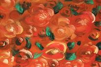 Vergänglichkeit, Rose, Rot, Blumen