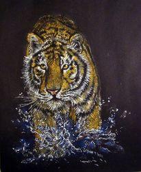 Malerei, Bengal, Tiger