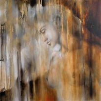 Gemälde, Person, Gesicht, Stimmung