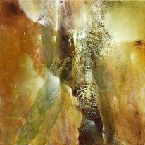 Grün, Braun, Komposition, Malerei