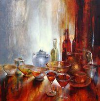 Stillleben, Malerei, Teekanne