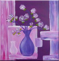 Acrylmalerei, Vase, Blüte, Blumen