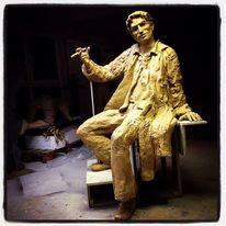 Mann, Skulptur, Ton, Plastik