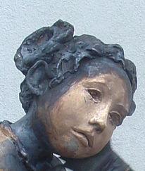 Portrait, Skulptur, Plastik, Kind