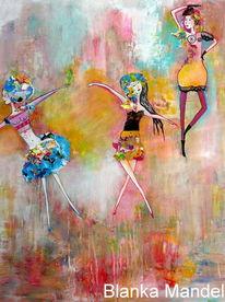 Frau, Tanz, Acrylmalerei, Malerei
