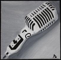 Musik, Mikrofon, Schwarz weiß, Grau