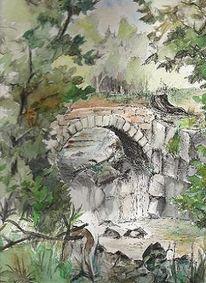 Baum, Urlaub, Brücke, Adlergebirge