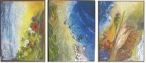 Jahreszeiten, Abstrakt, Herbst, Drei bilder