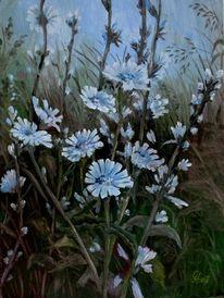 Blumen, Pflanzen, Malerei,
