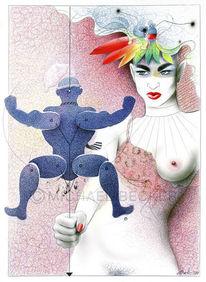 Spielzeug, Zeichnung, Hampelmann, Illustration