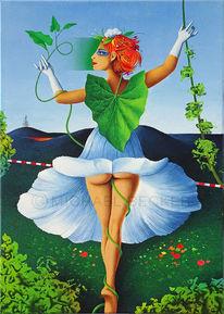 Pflanzen, Frau, Blüte, Garten