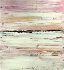 Meer, Abstrakt, Landzunge, Malerei
