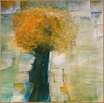Gelb, Blau, Baum, Wischen