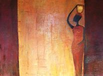 Afrika, Warme farben, Malerei,