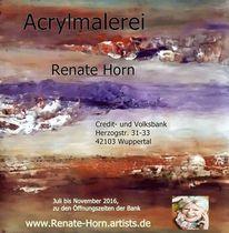 Einladungs, Flyer, Ausstellung, Renate horn