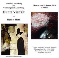 Vernissage, Wuppertal, Renate horn, Einladung