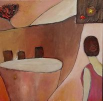 Frau, Fantasie, Landschaft, Braun