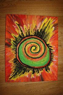Bunt, Rot, Abstrakt, Grün