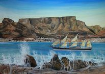 Schiff, Welt, Tafelberg, Kapstadt