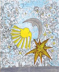 Mond, Stern, Sonnenkuss, Sonne