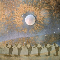 Mond, Rost, Fotomontage, Tanz