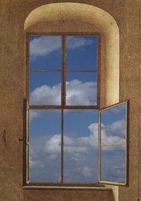Wolken, Romantisch surreal, Fenster, Caspar david friedrich
