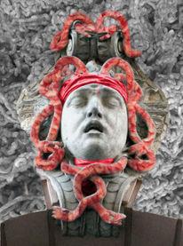 Zeughaus, Medusa, Fotomontage, Berlin