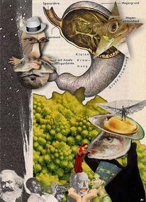 Lilienthal, Collage, Schleife, Fisch