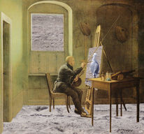 Montage, Kersting, Atelier, Caspar david friedrich