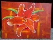 Blumen, Lilie, Malerei