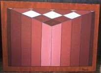 Rot, Raum, Abstrakt, Malerei