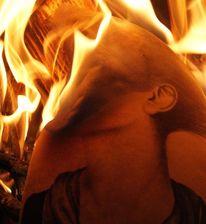 Kopf, Flammen, Hals, Brennen