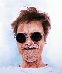 Gesicht, Portrait, Sonnenbrillen, Malerei
