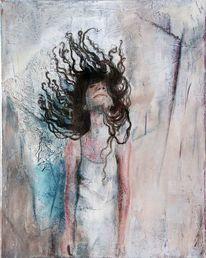 Mädchen, Haare, Junge frau, Malerei