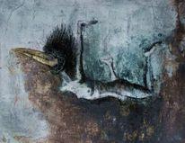 Fliegen, Körper, Vogelmensch, Malerei