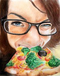 Portrait, Veganismus, Fuß, Yummie