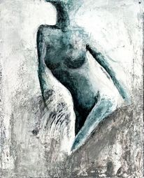 Akt, Frau, Zufall, Malerei