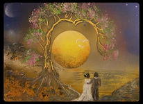 Baum, Spraydosen, Sonne, Glück