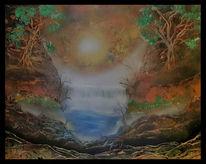 Wasserfall, Hoffnung, Himmel, Sehnsucht