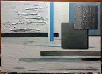 Blau, Retro, Abstrakt, Modern
