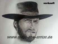 Portrait, Tv, Bleistiftzeichnung, Eastwood