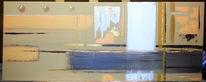 Abstrakt, Acrylmalerei, Modern, Retro