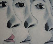 Gesicht, Augen, Blick, Malerei