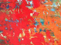 3d, Acrylmalerei, Orange, Liebe