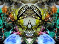 Wassermalerei, Reflexion, Komposition, Fantasie