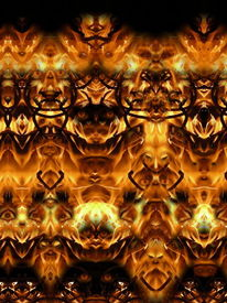 Makro, Mystik, Spiegelung, Feuer