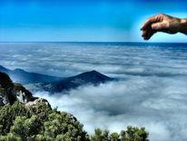 Sonne, Berge, Wolken, Aussicht