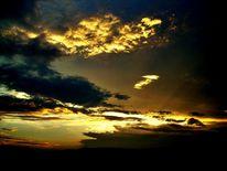 Himmel, Dämmerung, Wolken, Abend